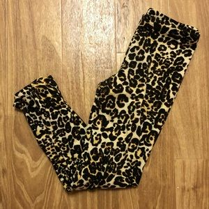 Flowers by Zoe Girls Leopard Print Legging, Sz M